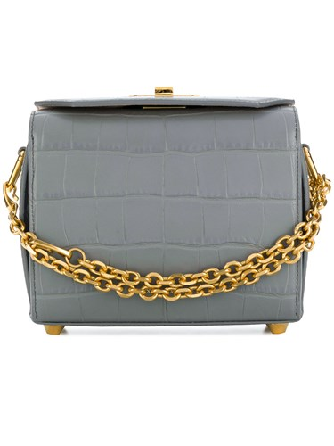Alexander McQueen Box Bag 19 Grey ynoXHK