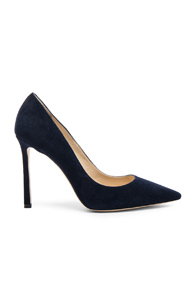 Jimmy Choo Suede Romy Pumps In Blue ZrpGAUb