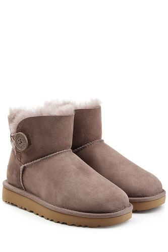 UGG Australia Shearling Lined Suede Boots With Button Grey zMg2ni5S