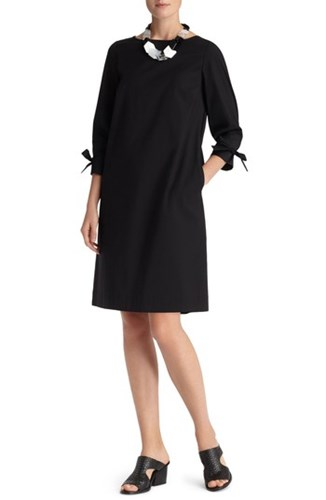 Lafayette 148 New York Women's Paige Cotton Blend Dress Black PSOs8CL
