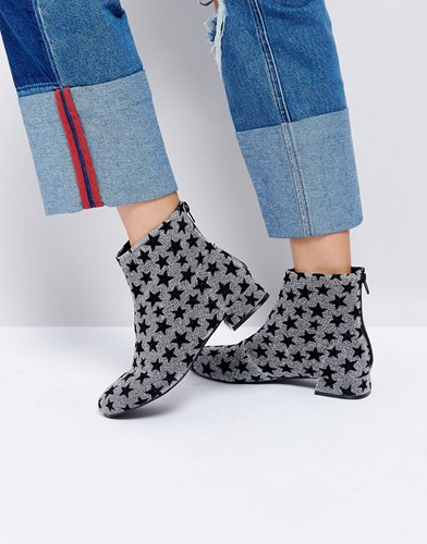 Asos Artistic Ankle Boots Stars Multi pHQI1zx