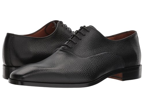 Massimo Matteo Pebbled Oxford Black Shoes IEAEyZlyn