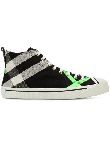 Burberry Checked Sneakers Black HWESZ