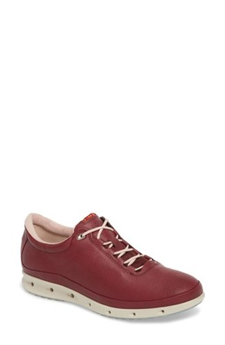 Ecco 'Cool' Waterproof Perforated Leather Sneaker Red Leather mixeD9irgr