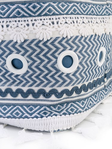 Woven 'Shaoul' Bag Women Cotton One Size White