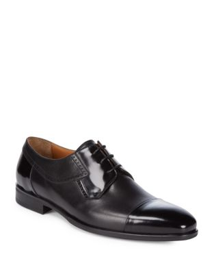 Bruno Magli Nino Cap Toe Leather Derbys Black rpKMJse