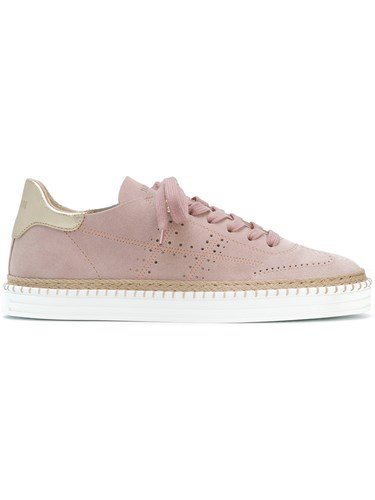 Hogan Perforated Low Top Sneakers Pink And Purple epypH
