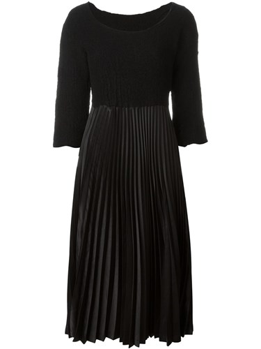 Comme des Garcons Vintage Pleated Midi Dress Black JapMi