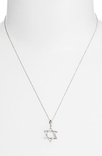 Women's Diamond Star Of David Pendant Necklace Nordstrom Exclusive