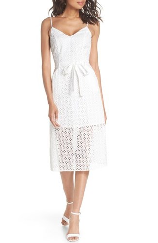 Ali Sunsets Cotton White Shutters Eyelet Jay Dress amp; Midi rqwOtIr6