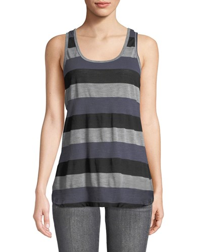 Striped Easy Tank Gray
