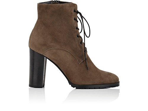 Barneys New York Women's Lug Sole Suede Ankle Boots Grey DnHHTD8