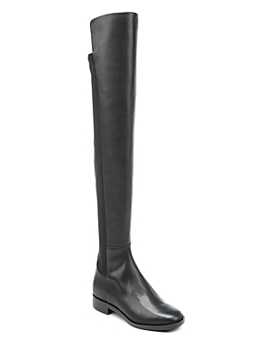Via Spiga Women's Varun Leather And Stretch Over The Knee Boots Black xaHn1