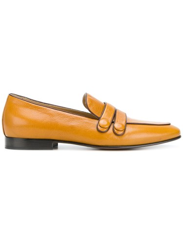 Leqarant Front Strap Loafers Brown pV5LH