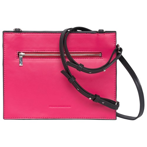 French Connection Dexter Upside Down Cross Body Bag Black Magenta PwbuocSP