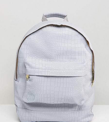 Mi-Pac Exclusive Faux Croc Backpack In Grey Grey ljRXY