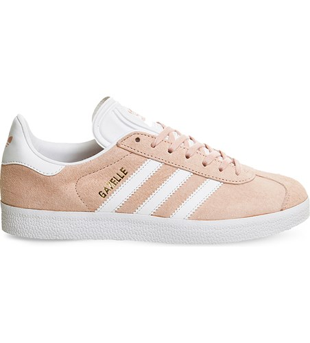 Pink Vapour adidas White Suede Trainers Gazelle qxOOwp7n8B