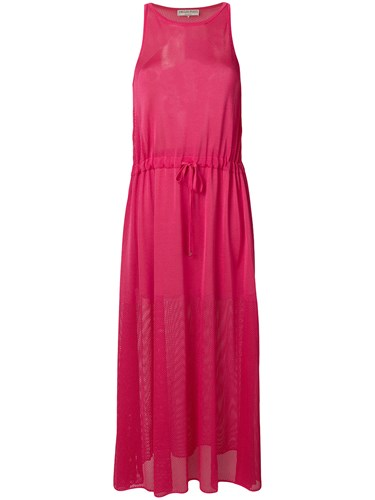 Emilio Pucci Halterneck Mesh Maxi Dress Pink And Purple 5RmJHG