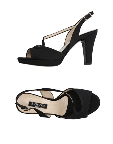 L'amour Sandals Black f4zUgyW
