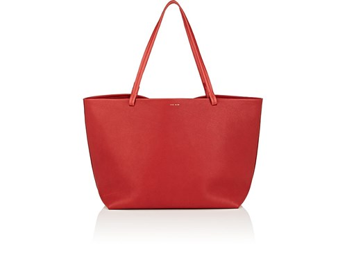 The Row Park Leather Tote Bag Red 0xjqMl1XS