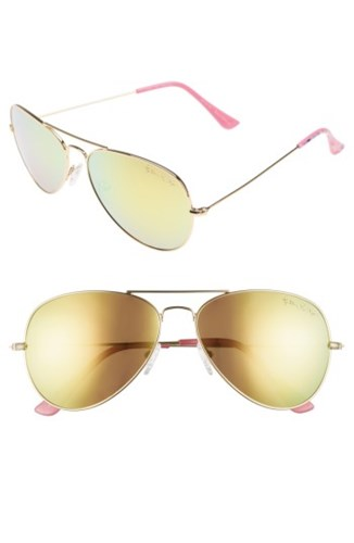 Pulitzerr Women's Lexy 59Mm Polarized Aviator Sunglasses Pink