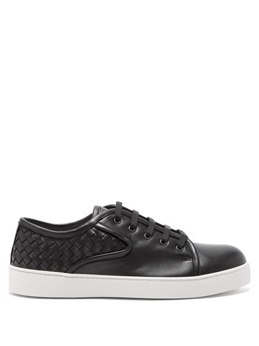 Dodger Lace Up Leather Trainers Black