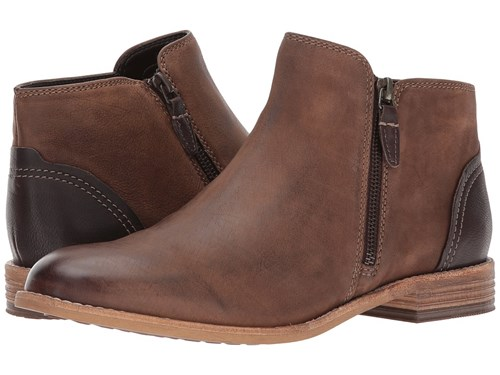 Clarks Maypearl Juno Brown Leather Boots Ap0EF