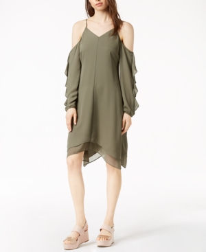 Iii Olive Asymmetrical Dusty Created Dress Cold Macy's For Shoulder Bar AwPdZwq