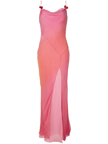 Christian Dior Vintage Bias Cut Maxi Dress Pink And Purple EymmC