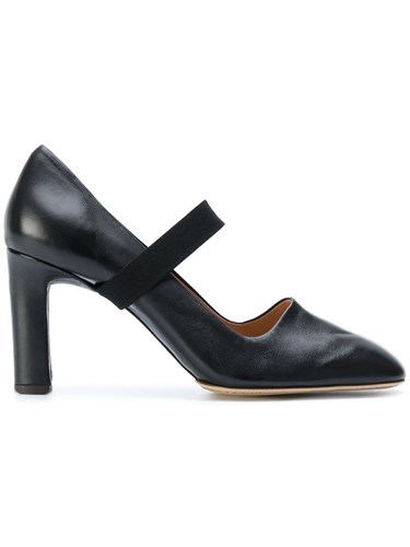 Santoni Edited By Marco Zanini Cross Strap Pumps Leather Black UQONdrC