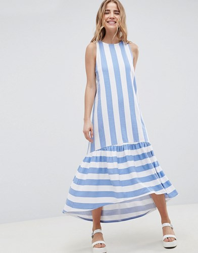 In Deckchair And With Asos Pep Lo Maxi Deckchair Stripe Dress Stripe Back Design Hem Racer Multi Hi qxP7Y1x