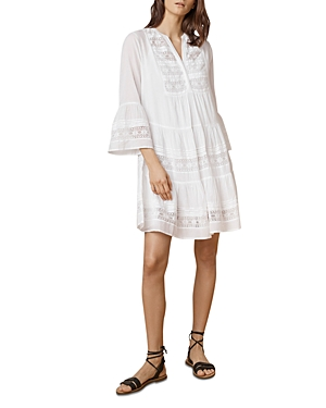 Velvet by Graham & Spencer Nuria Bell Sleeve Tiered Dress White sI8BI