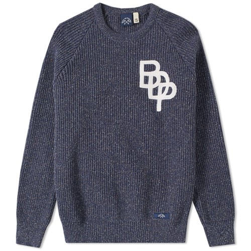 Raglan Crew Knit Blue