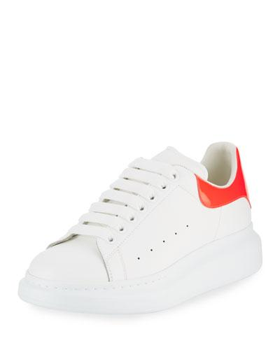 Top Leather Alexander Low McQueen Pink White Sneaker Men's AqAvgnwx1