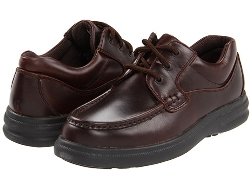 Hush Puppies Gus Dark Brown Leather Lace Up Casual Shoes v2v2feDg