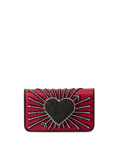 Les Petits Joueurs Ginny Heart Cupid Clutch Bag Fuchsia 3RGZvR
