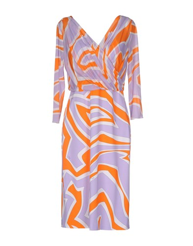 Emilio Pucci Knee Length Dresses Lilac YJFT327