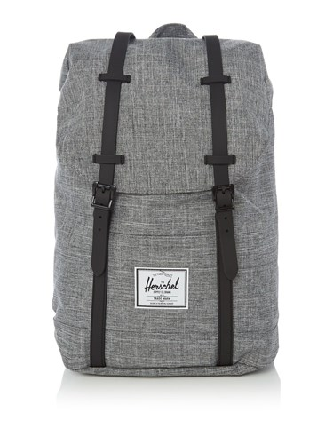 Herschel Double Strap Retreat Backpack Grey 0jKzKFU8Gd