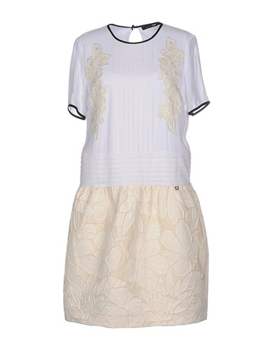 Twin-Set Simona Barbieri Dresses Short Dresses Women White XJzeaO4gjb