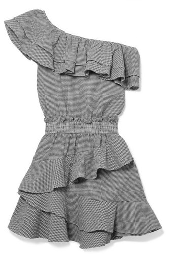 LoveShackFancy Lacey Gingham Cotton Blend Seersucker Mini Dress Gray Gbp IRe672ca