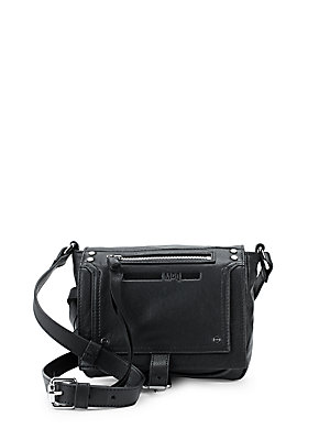 McQ by Alexander McQueen Leather Crossbody Bag Black oI8tP