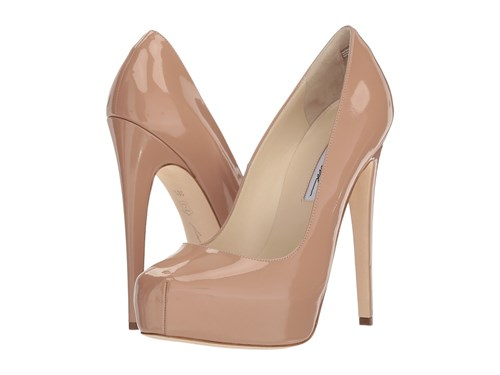 Brian Atwood Maniac Cappuccino Nude Patent Shoes Beige nRlk7EN7m