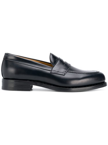 Berwick Shoes Classic Slip On Loafers Blue nuFg2xUwM