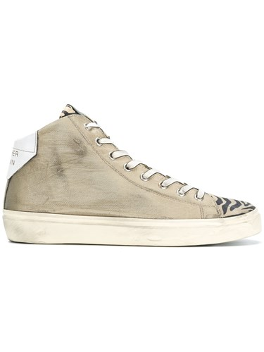 Leather Crown Zebra Print Toe Sneakers Nude And Neutrals bvWyY0S