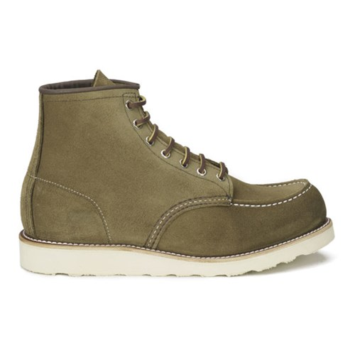 Red Wing Shoes Men's 6 Inch Moc Toe Leather Lace Up Boots Olive Mohave Green 3Z9kRw