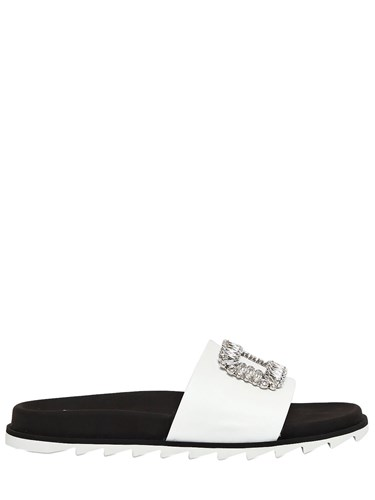 Roger Vivier 20Mm Buckle Slide Flats White IwdenwR6gj