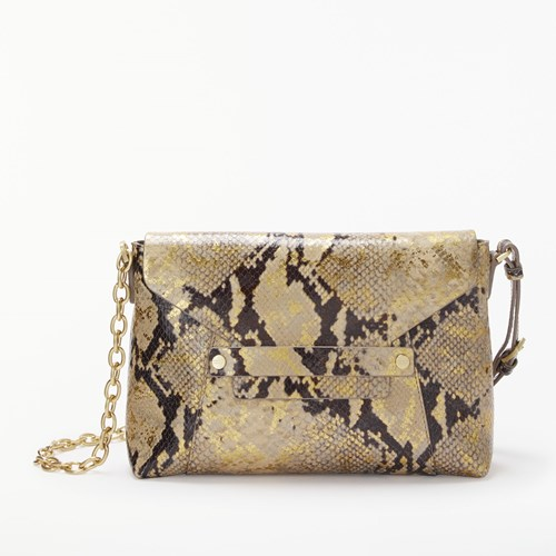 Modern Rarity Ribbon Small Leather Chain Cross Body Bag Snake Print 2kjk2ZU