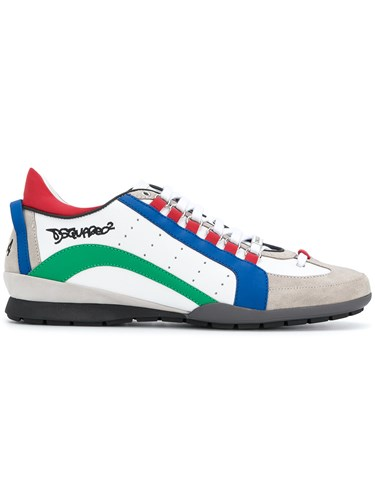 DSquared Dsquared2 551 Sneakers Calf Leather Plastic Polyurethane Rubber White 7DhsMIlEZ