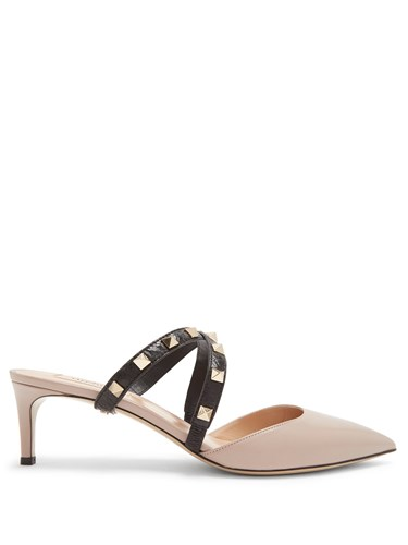 Valentino Studwrap Leather Mules Nude 5OwPy