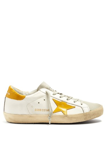 Golden Goose Super Star Low Top Leather Trainers Yellow White AGTeu